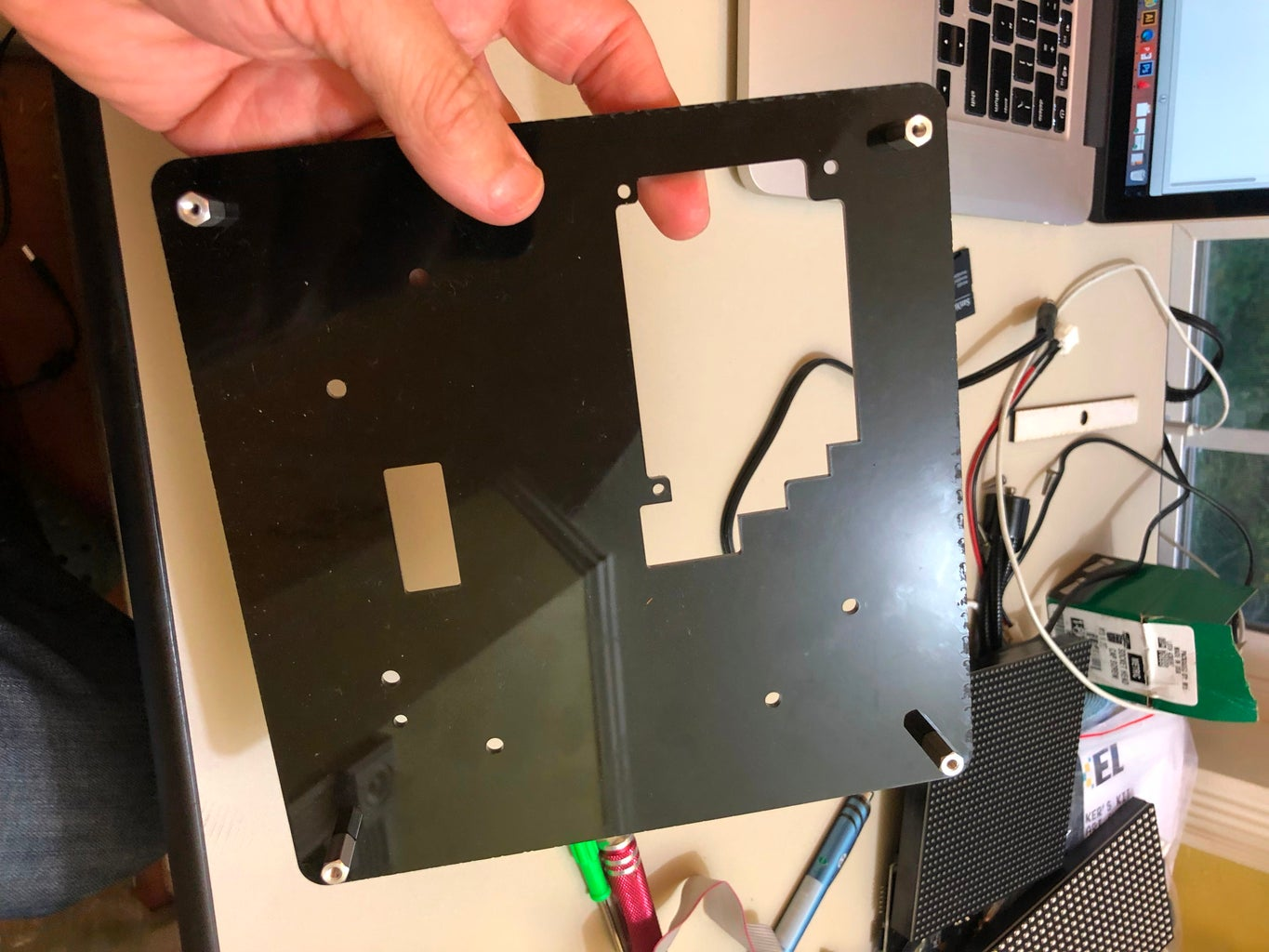 Mounting the PIXEL Board and LED Matrix