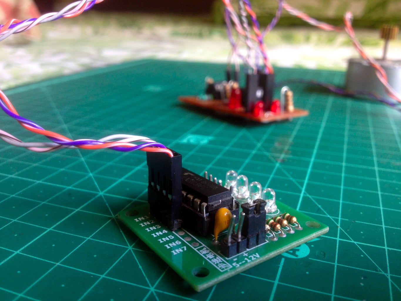Connect the Stepper Motor Driver to the Amplifier Board