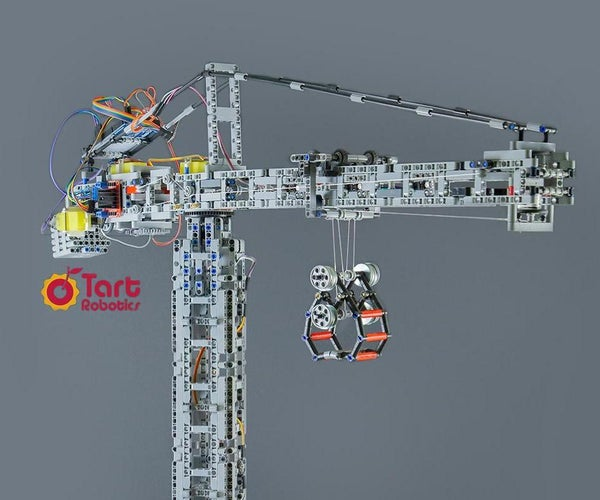 A Fully Functional Tower Crane Desktop Replica With Lego, Arduino, and 3D Printed Parts