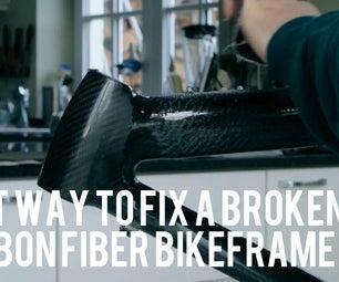Repair of a Broken Carbonfiber Bikeframe