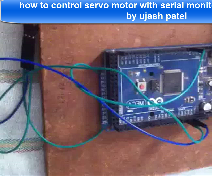 How to Control servo motor with arduino and serial monitoring window