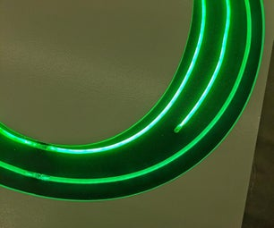 Faux-neon Letters for Signs or Decoration