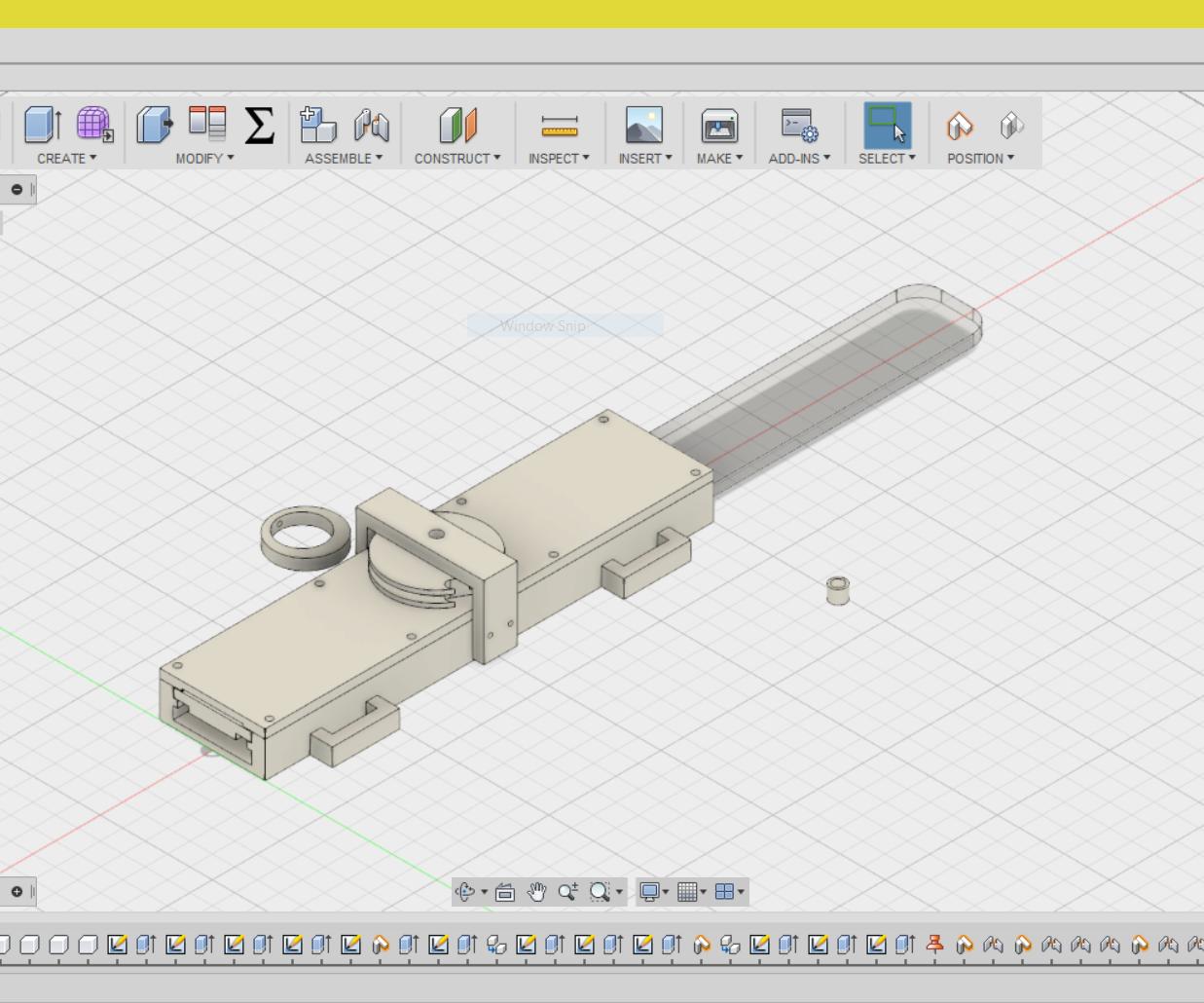 3D Printed Hidden Blade - Fusion 360 Design