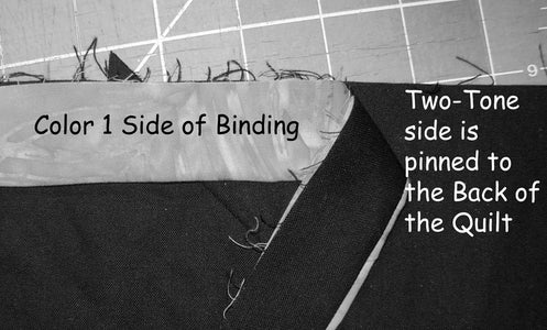 Attach Two-Tone Binding to Your Quilt