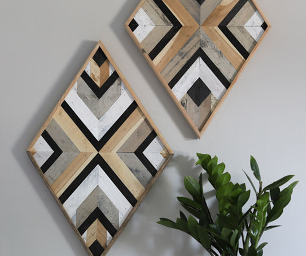 DIY Scrap Wood Wall Art