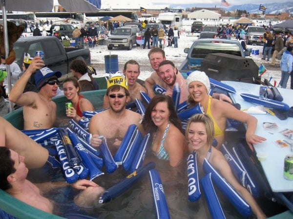 Home Made Hot Tub for the Football Tailgates!