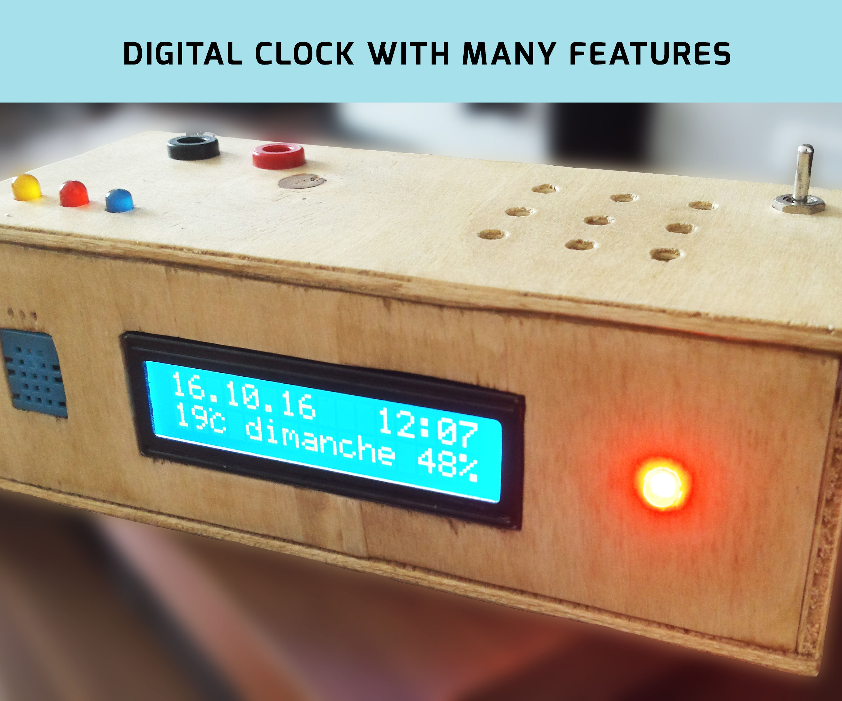 Digital Clock with many features