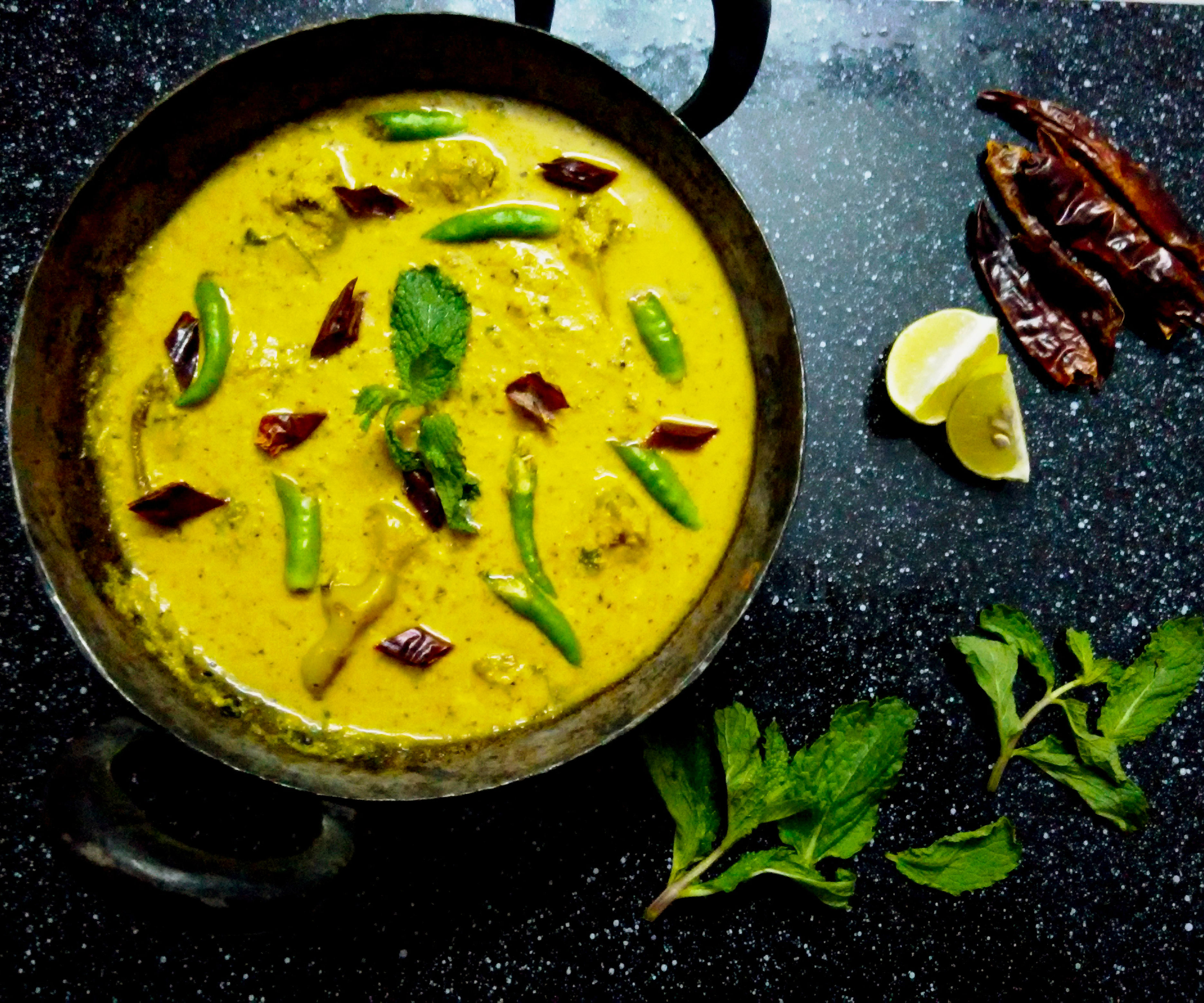Green Hot Chilli Pepper Indian Curry