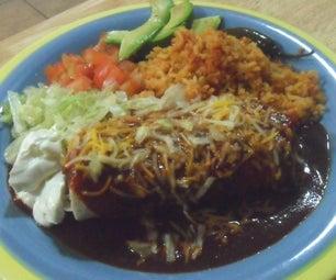 Mexican Fake Out: Bean Burritos Enchilada Style