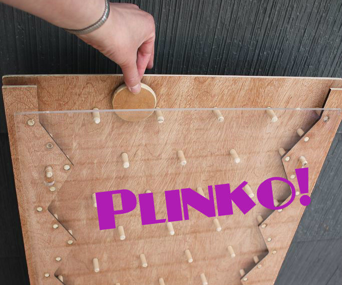 Laser Cut Plinko Game
