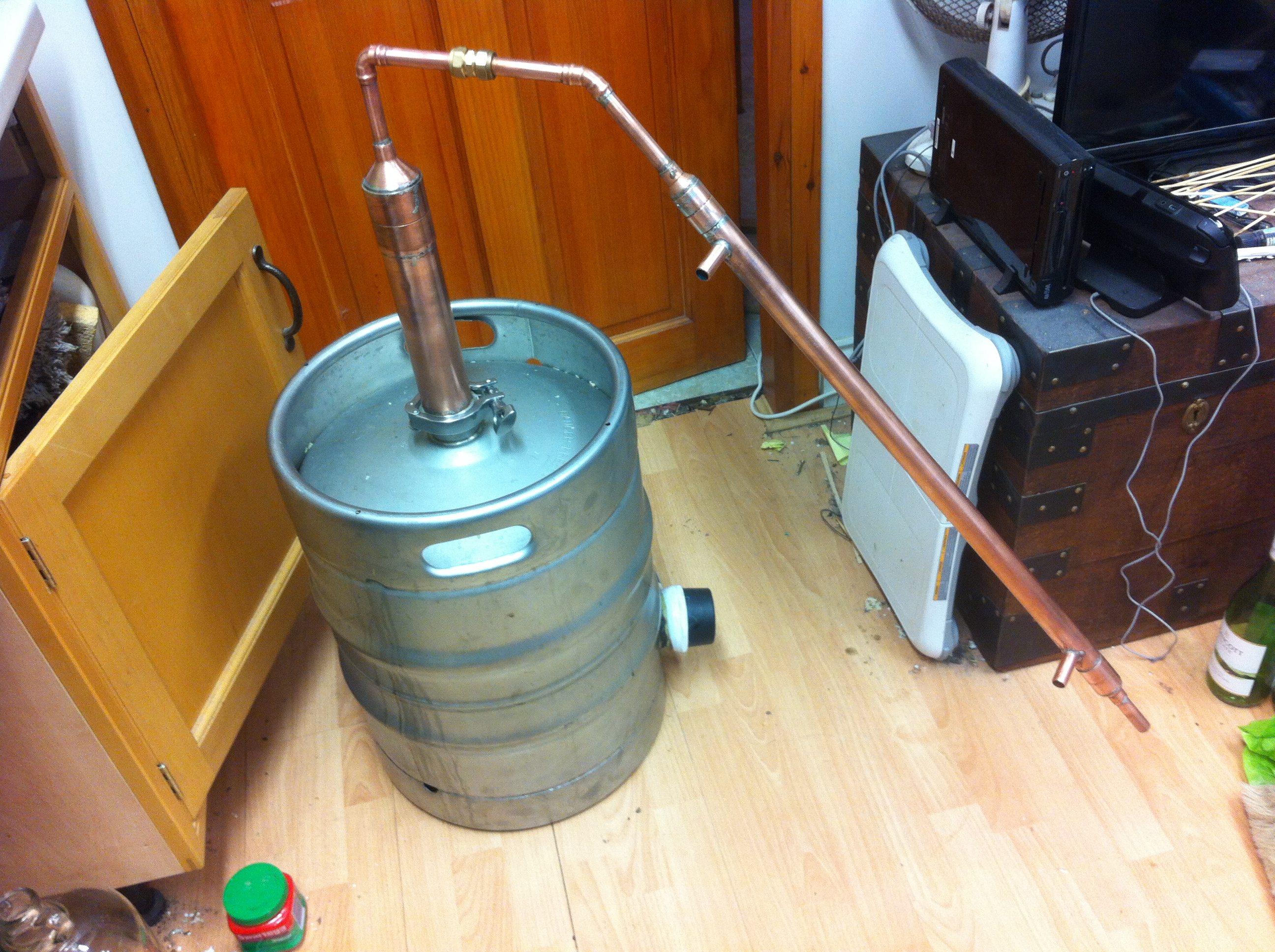 Build a Keg Still for Whiskey (Pot still design)