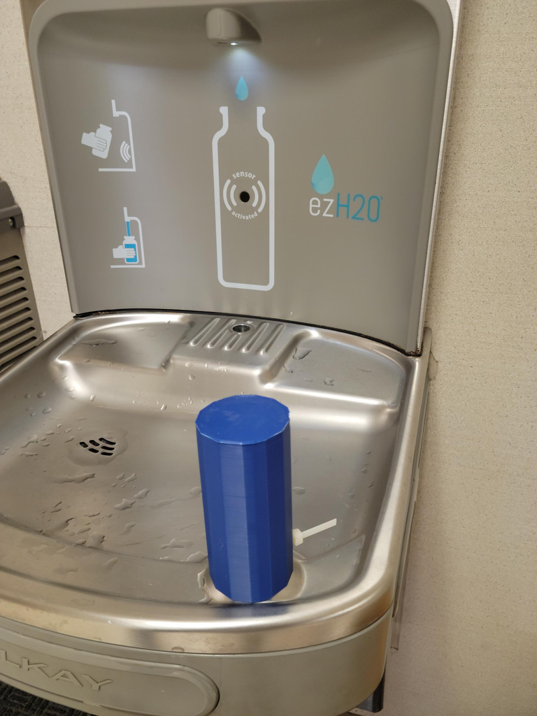 Simple 3d Printed Covid Safe Water Fountain Cover for School.
