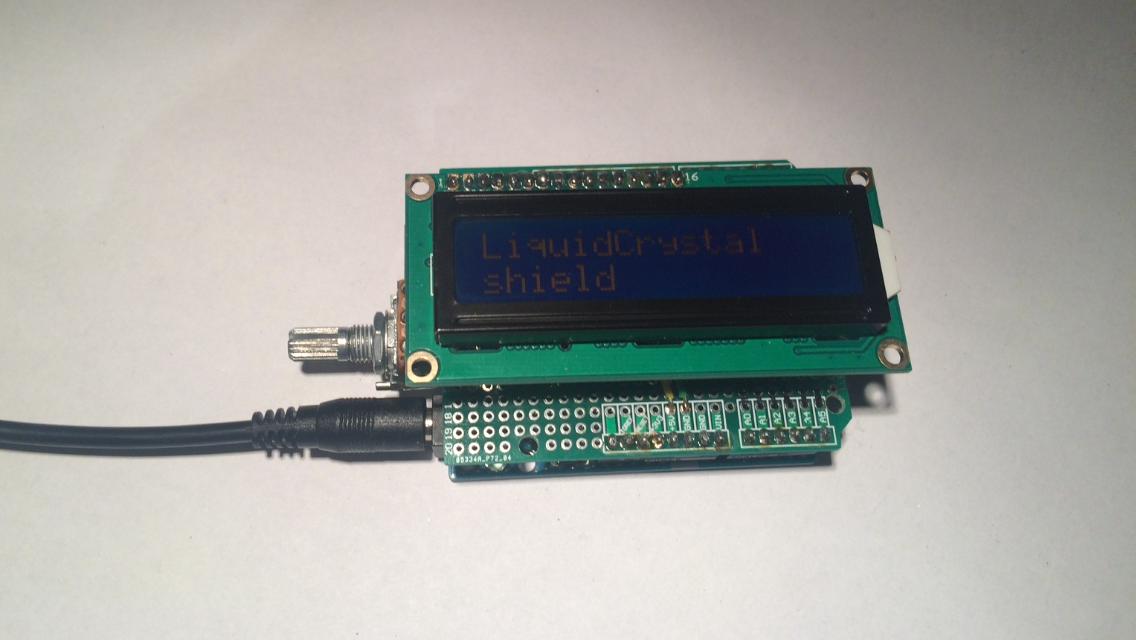 DIY Arduino LCD shield