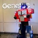 Optimus Prime , with talking vocoder robot voice synthetiser