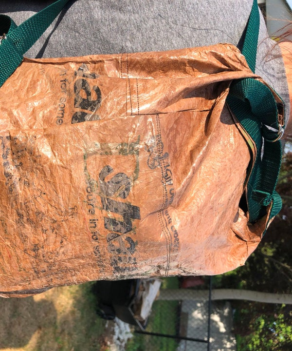Upcycled Grocery Bag Backpack