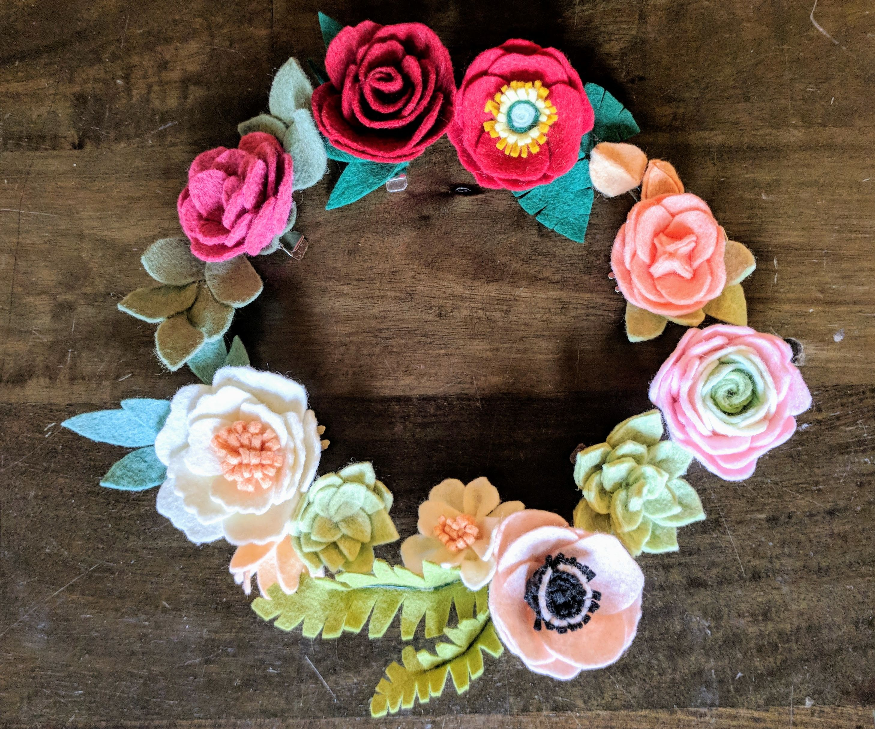 Felt Flower Crowns