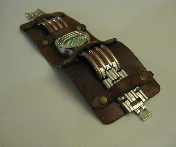 DIY Watch Leather Cuff (watch/bracelet Can Be Removed and Replaced)