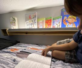 Bunk Bed Reading Light Bookshelf (powered by USB-C)