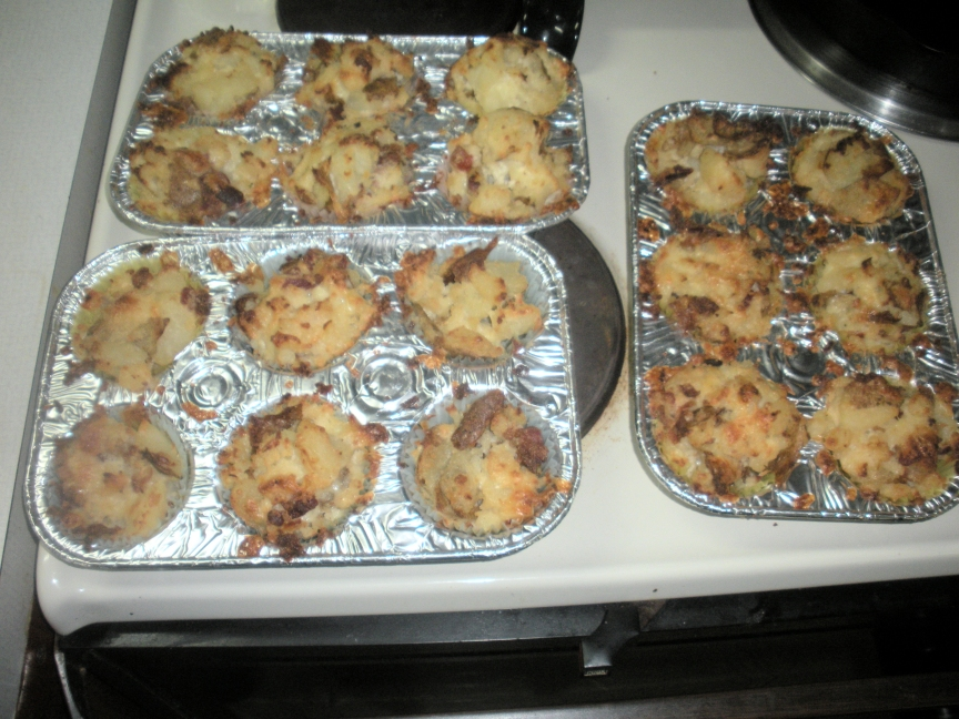 LOADED twice baked potato cupcakes