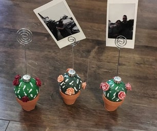 Cacti Photo Holders/Wall Hanging (using Christmas Ornaments)