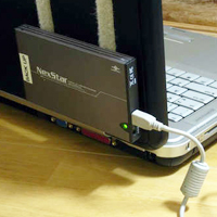 Velcro Hard Drive Dock