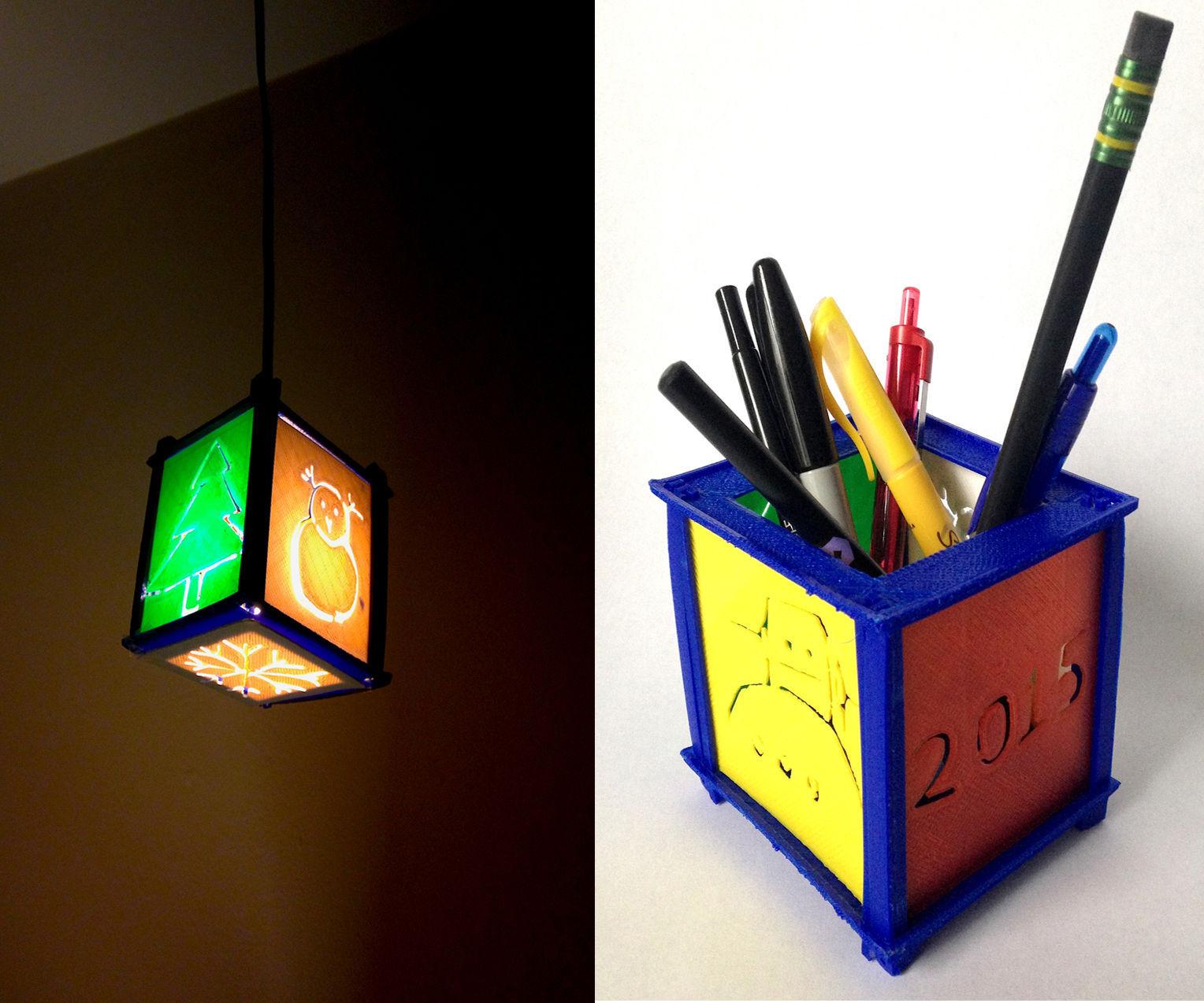 Autodesk 123D design- Create a Customizable Lamp/Pen Stand