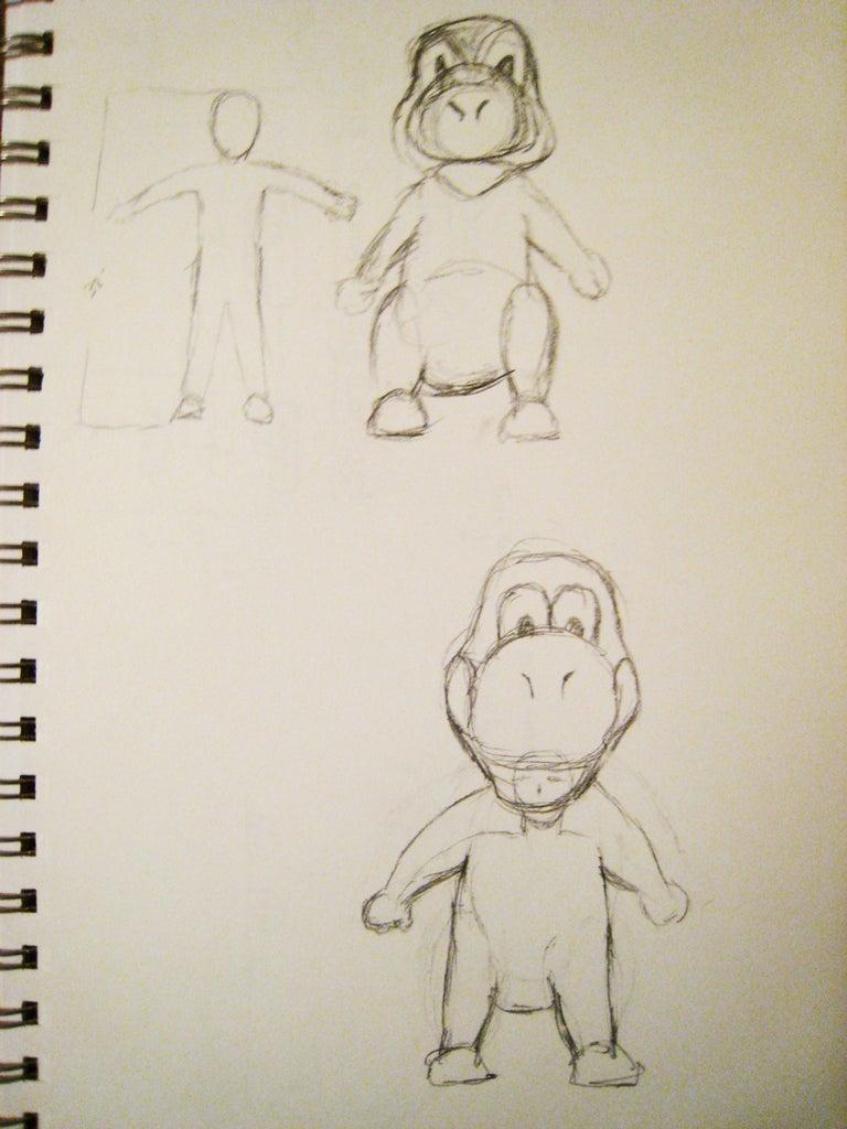 Yoshi Drawing