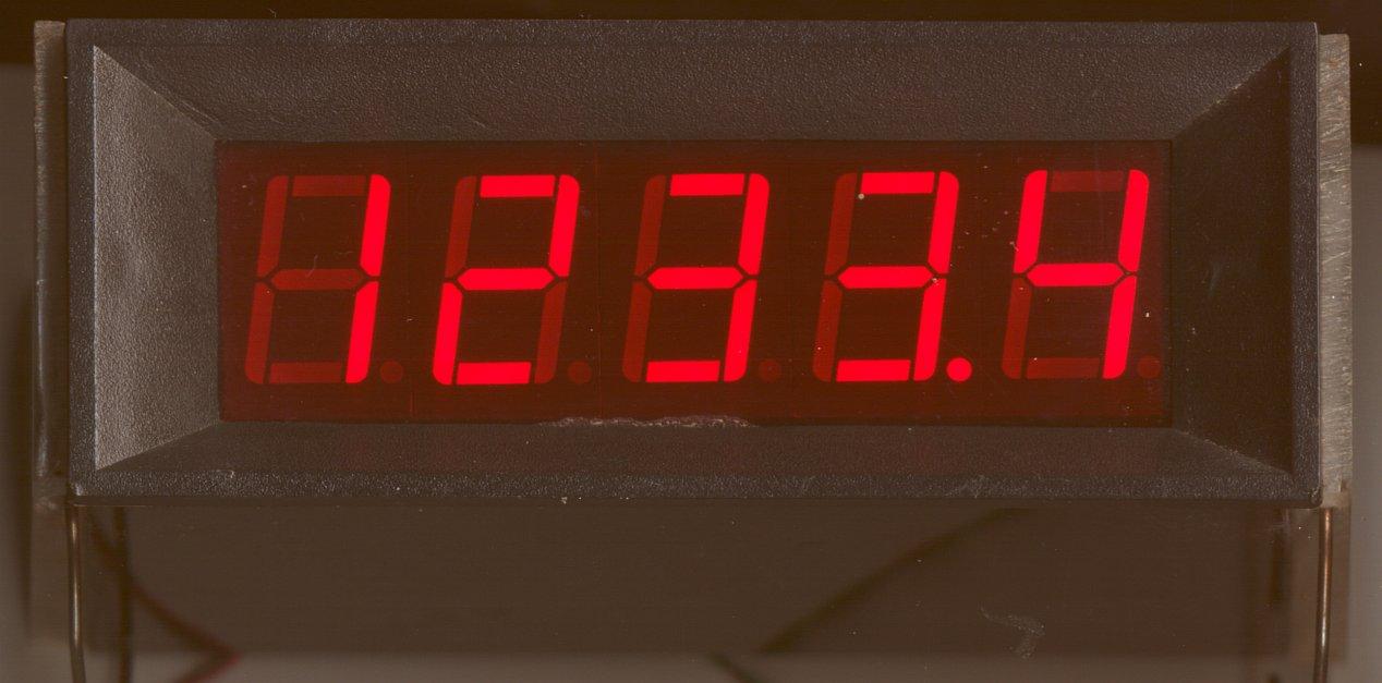 4-1/2 digit panel meter