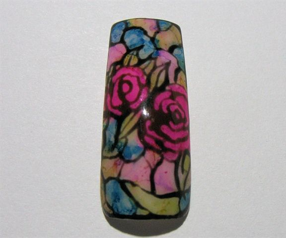 Diy Ink Stained Nail Art