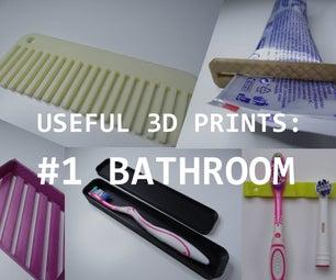 Useful 3D Prints: Bathroom