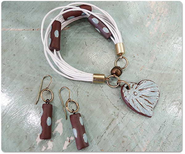 The Workings of a Subtle Heart Bracelet and Earring