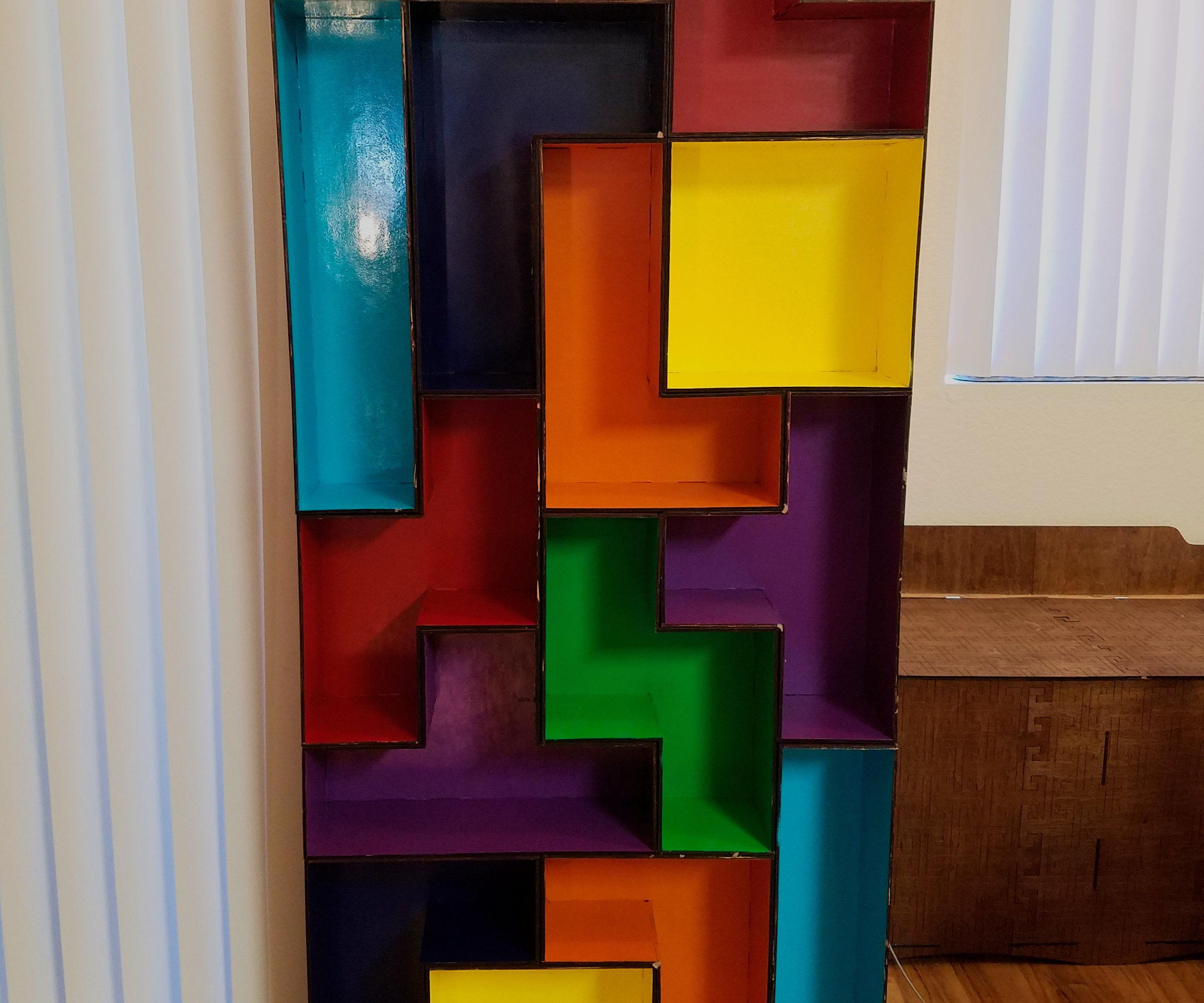 Modular Laser Cut Tetris Shelves