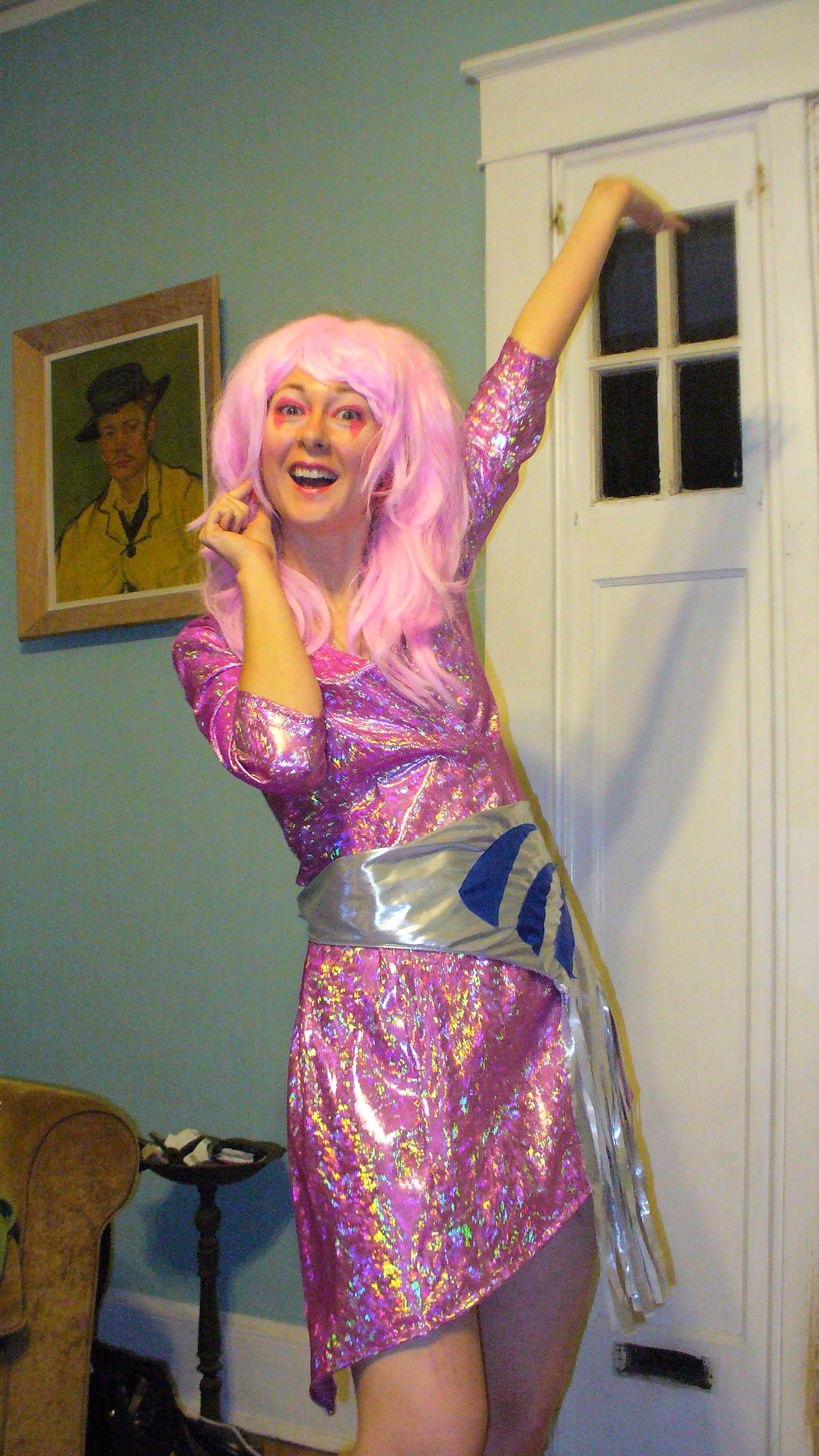 How to be Jem from Jem The Holograms for Halloween