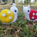 Crochet Lemon and Strawberry Snails