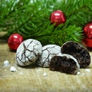 Sparkly Chocolate Coffee Crinkle Cookies
