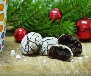 闪闪发光的巧克力咖啡溪饼干