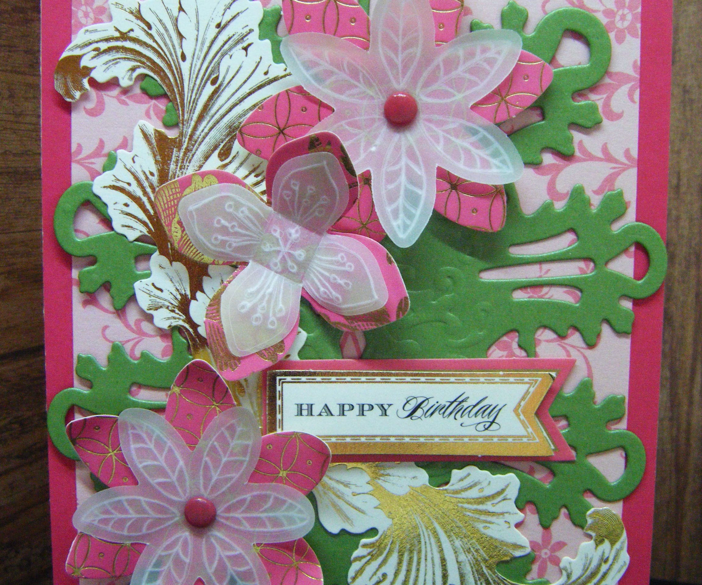Cardmaking Project: Stunning Parchment Flowers Card