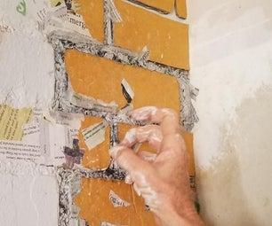 Fake Cardboard Brick Wall Fix