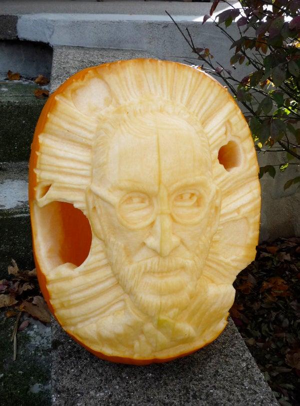 Steve Jobs Pumpkin Carving