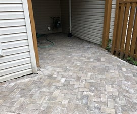 DIY Concrete Paver Patio