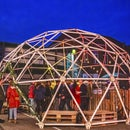 Geodesic Dome With Cardboard Tubes and Laser Cut Connectors