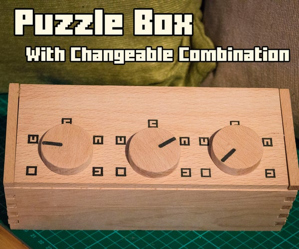 Puzzle Box - With Changeable Combination