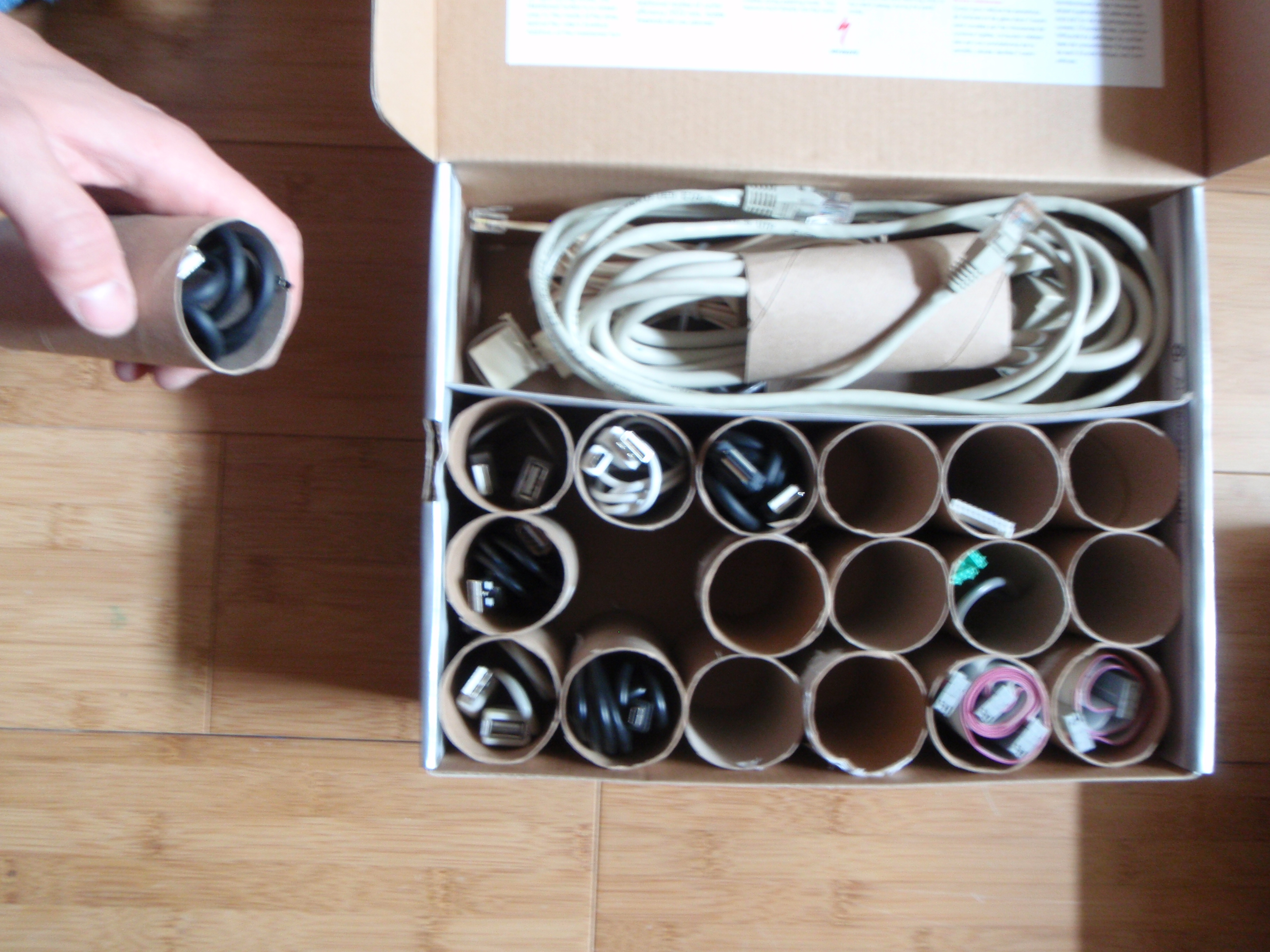 TP Roll Organizer Box instructable