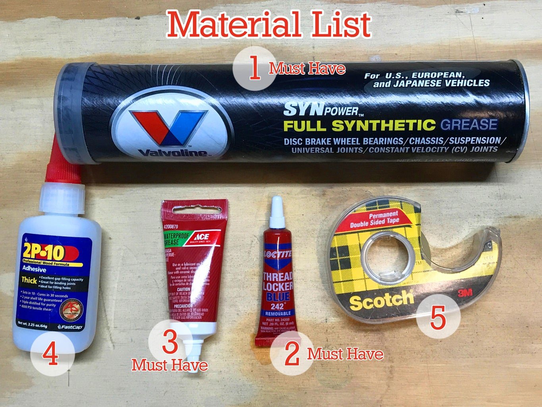Materials, Tools & Replacement Parts