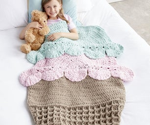 Ice Cream Crochet Snuggle Sack
