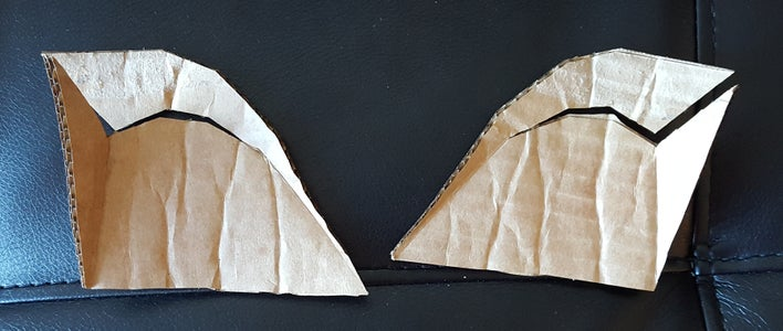 Fold and Glue the Insets in the Face Mask