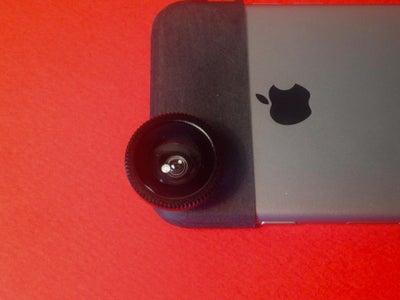 Glue the Fisheye Lense to It