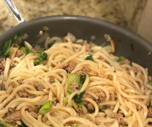 Udon Noodles With Ground Pork