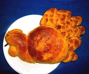 Pumpkin Challah Bread (Turkey Shaped)