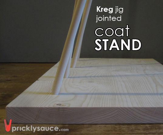 COAT STAND With Kreg R3 Pocket Hole Jig